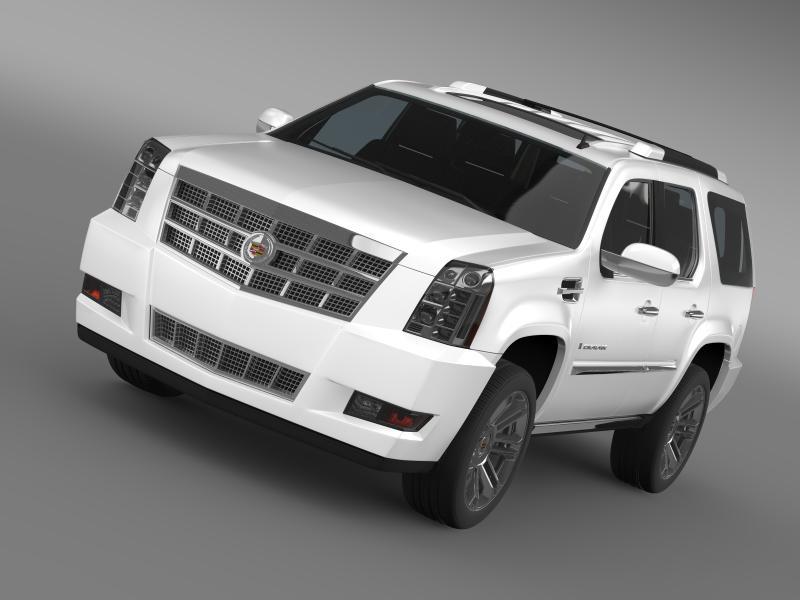 cadillac escalade 2011 platinum 3d model 3ds max fbx c4d lwo ma mb hrc xsi obj 149960