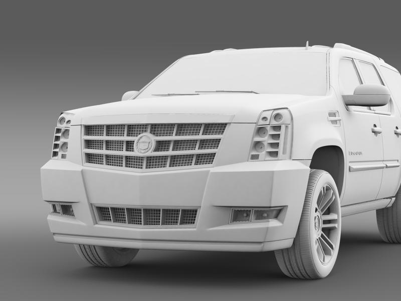 cadillac escalade 2011 platinum 3d model 3ds max fbx c4d lwo ma mb hrc xsi obj 149976