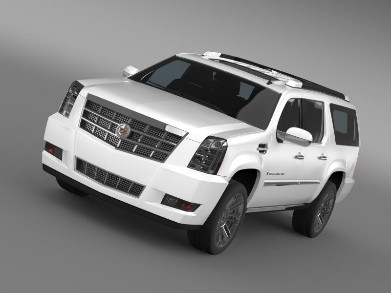 cadillac escalade 2011 platinum esv 3d model 3ds max fbx c4d lwo ma mb hrc xsi obj 149981