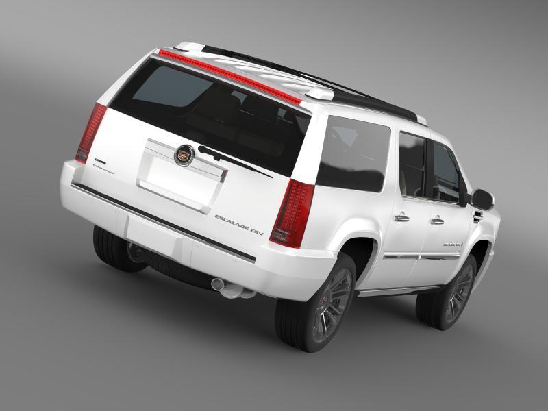 cadillac escalade 2011 platinum esv 3d model 3ds max fbx c4d lwo ma mb hrc xsi obj 149982
