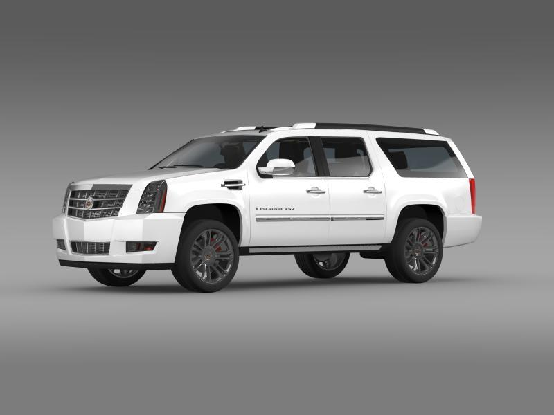 cadillac escalade 2011 platinum esv 3d model 3ds max fbx c4d lwo ma mb hrc xsi obj 149985