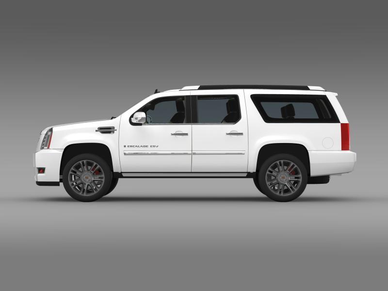cadillac escalade 2011 platinum esv 3d model 3ds max fbx c4d lwo ma mb hrc xsi obj 149986