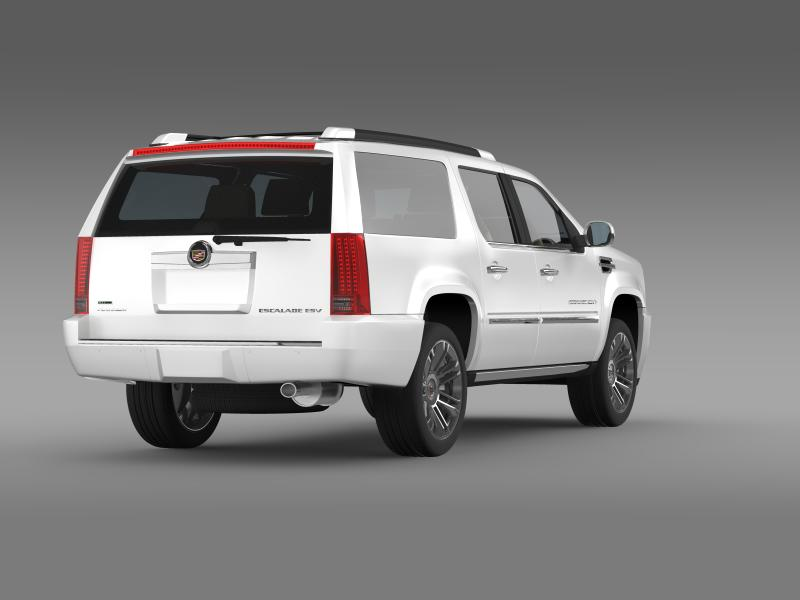 cadillac escalade 2011 platinum esv 3d model 3ds max fbx c4d lwo ma mb hrc xsi obj 149988