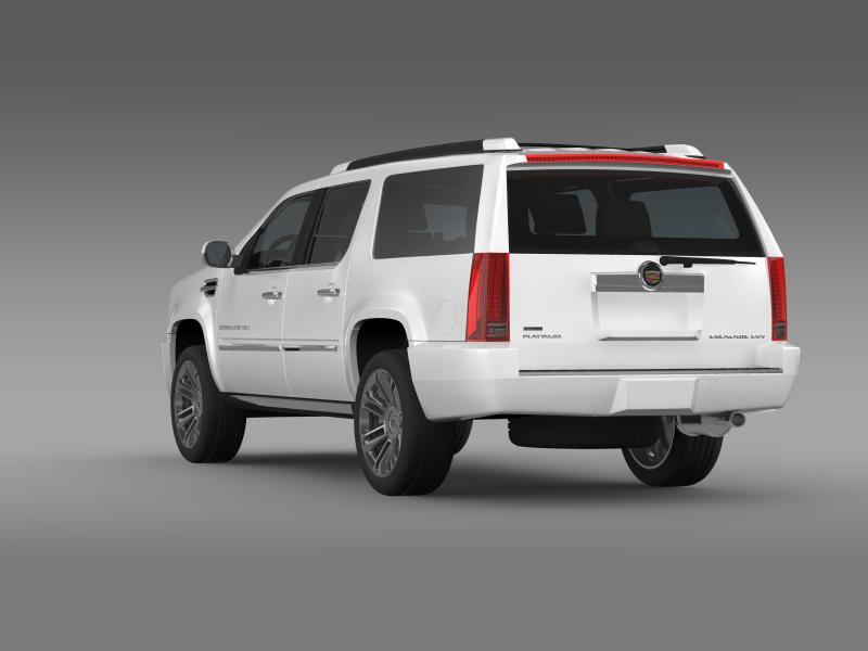 cadillac escalade 2011 platinum esv 3d model 3ds max fbx c4d lwo ma mb hrc xsi obj 149990