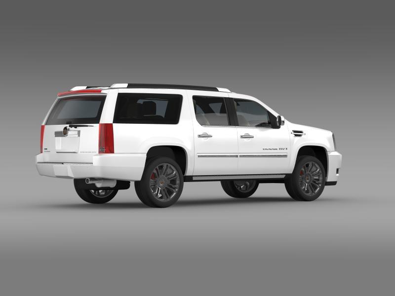 cadillac escalade 2011 platinum esv 3d model 3ds max fbx c4d lwo ma mb hrc xsi obj 149991