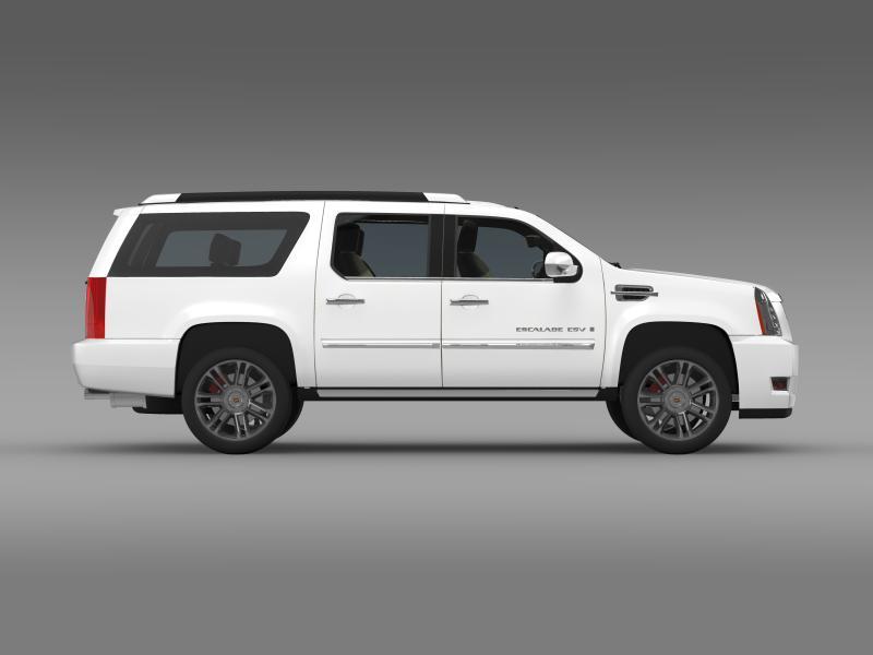 cadillac escalade 2011 platinum esv 3d model 3ds max fbx c4d lwo ma mb hrc xsi obj 149992