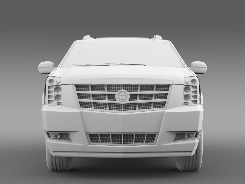 cadillac escalade 2011 platinum esv 3d model 3ds max fbx c4d lwo ma mb hrc xsi obj 149995