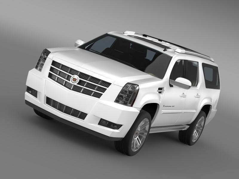 Cadillac escalade 2013 esv 3d मॉडल 3ds अधिकतम fbx c4d lwo ma mb hrc xsi obj 150029