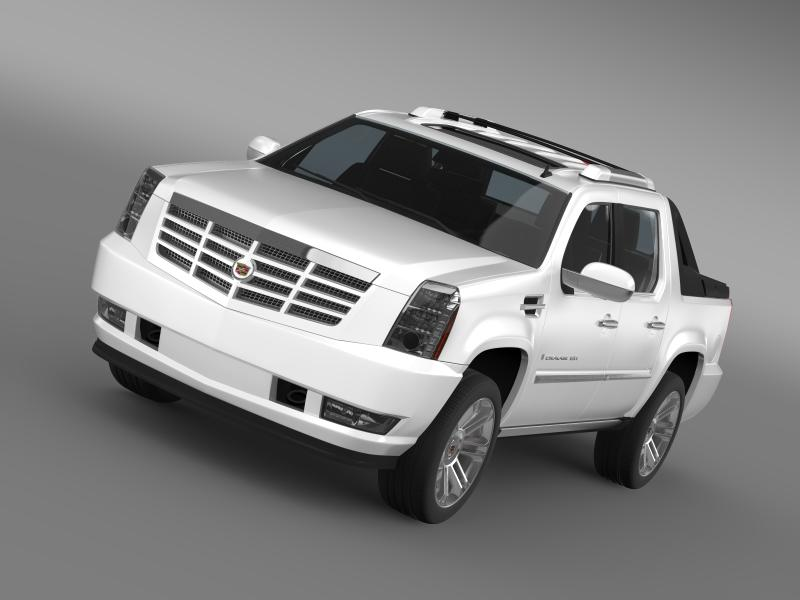 cadillac escalade 2013 ext 3d model 3ds max fbx c4d