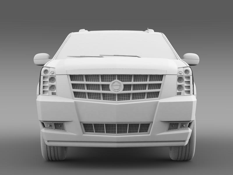 cadillac escalade 2013 hybrid 3d model 3ds max fbx c4d lwo ma mb hrc xsi obj 150097