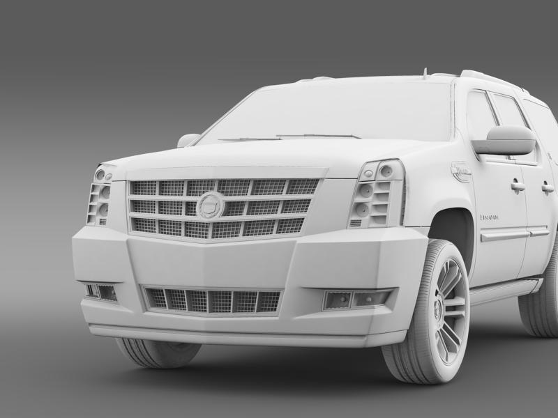 cadillac escalade 2013 hybrid 3d model 3ds max fbx c4d lwo ma mb hrc xsi obj 150099