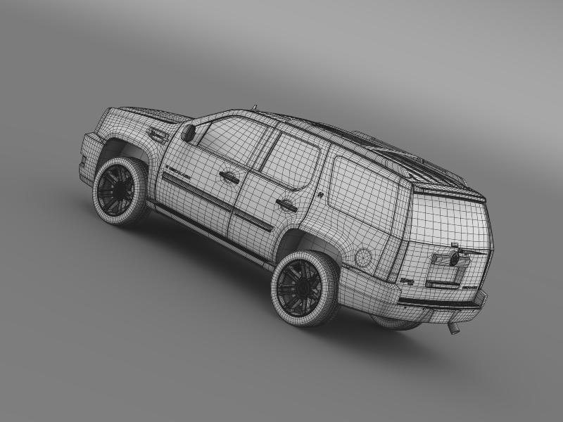 cadillac escalade 2013 hybrid 3d model 3ds max fbx c4d lwo ma mb hrc xsi obj 150103