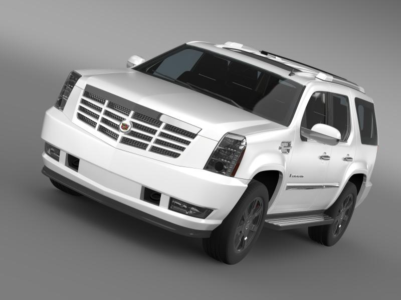 cadillac escalade model 3d 3ds max fbx c4d