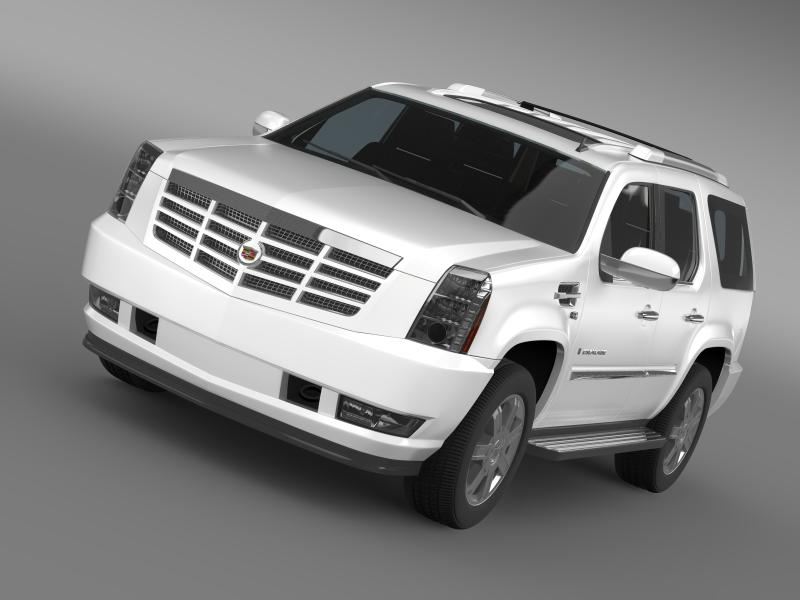 cadillac escalade european version 3d модел 3ds максимум fbx c4d двомас mb hrc xsi obj 150125