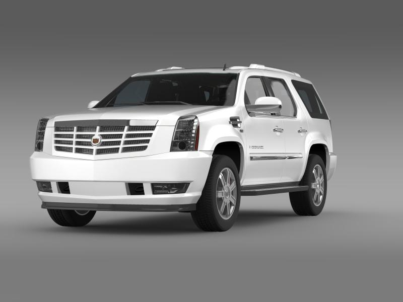cadillac escalade european version 3d model 3ds max fbx c4d lwo ma mb hrc xsi obj 150128