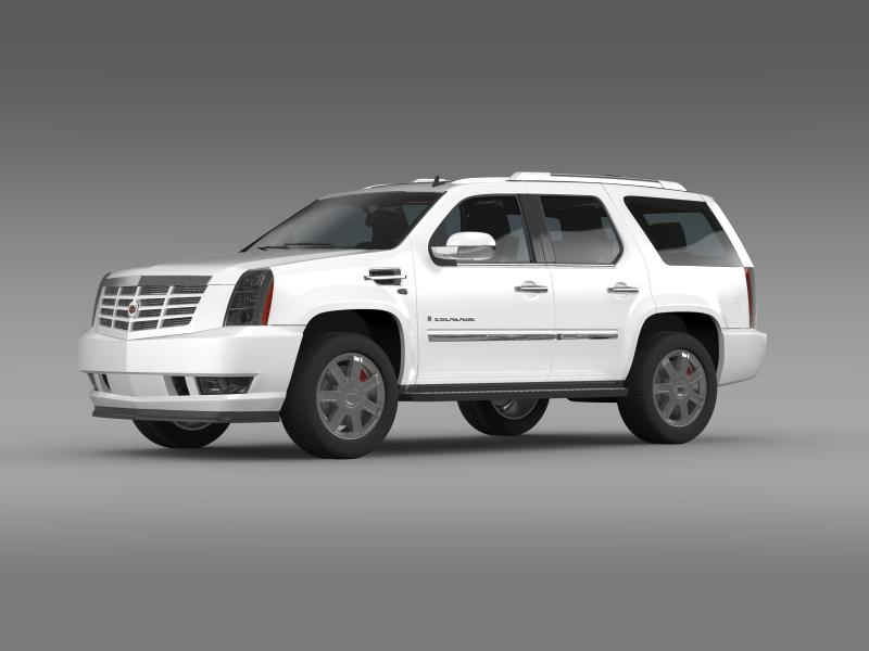 cadillac escalade european version 3d model 3ds max fbx c4d lwo ma mb hrc xsi obj 150129