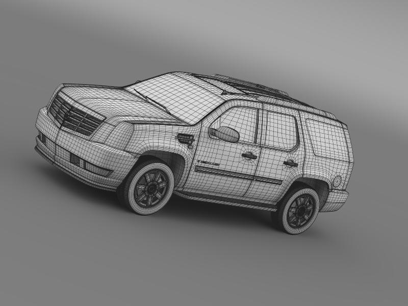 cadillac escalade european version 3d model 3ds max fbx c4d lwo ma mb hrc xsi obj 150143