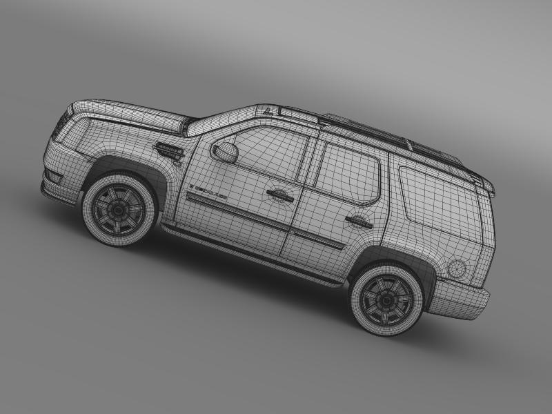 cadillac escalade european version 3d model 3ds max fbx c4d lwo ma mb hrc xsi obj 150144