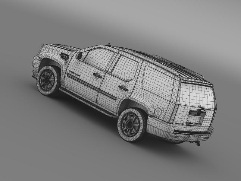 cadillac escalade european version 3d model 3ds max fbx c4d lwo ma mb hrc xsi obj 150145