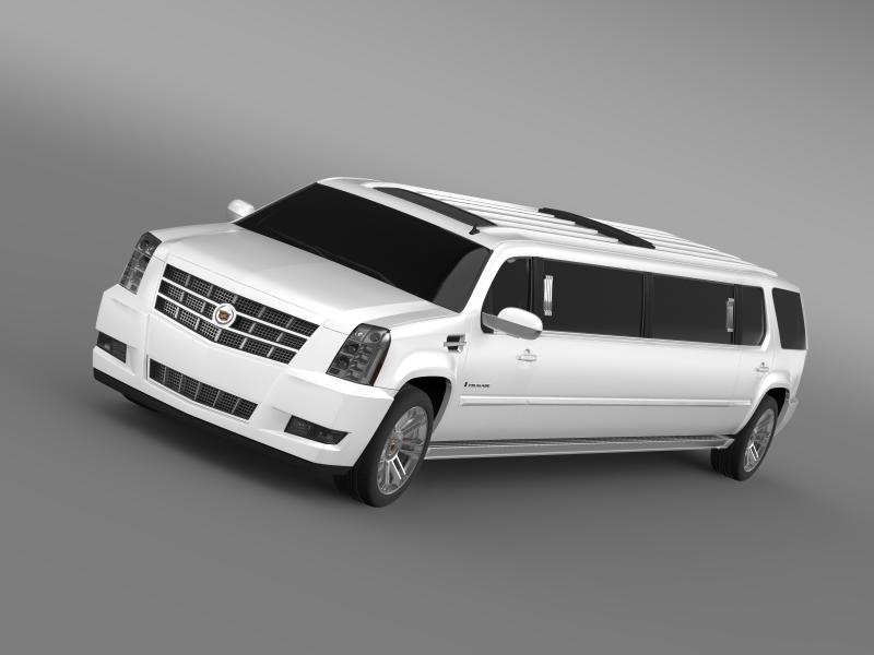 cadillac escalade limo 2013 3d modell 3ds max.