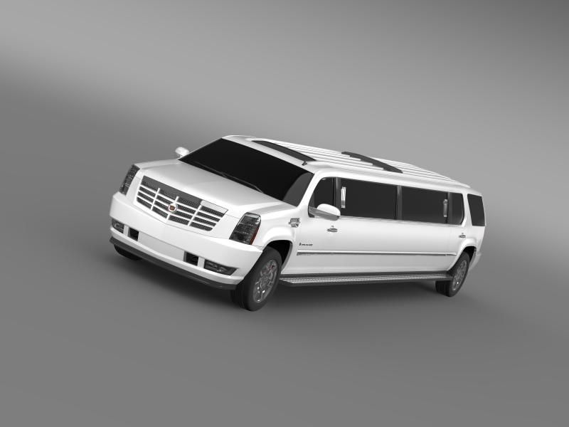 cadillac escalade limo 3d modell 3ds max fbx c4 lwo ma mb hrc xsi obj 150188