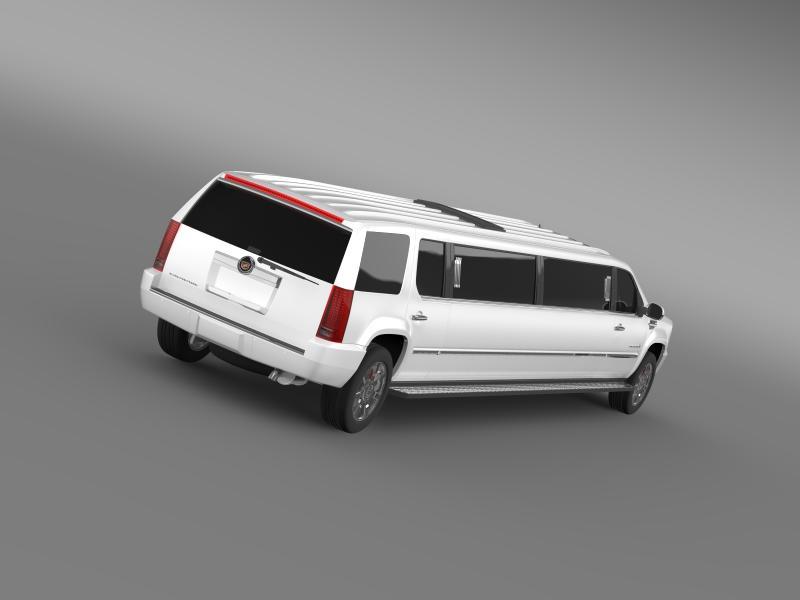 cadillac escalade limo 3d model 3ds max fbx c4d lwo ma mb hrc xsi obj 150189