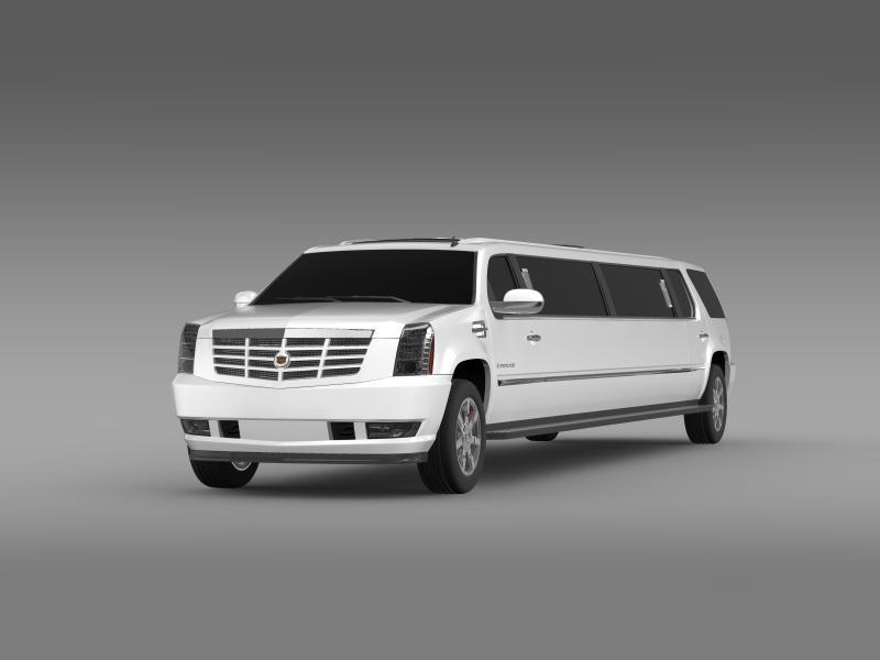 cadillac escalade limo 3d model 3ds max fbx c4d lwo ma mb hrc xsi obj 150190