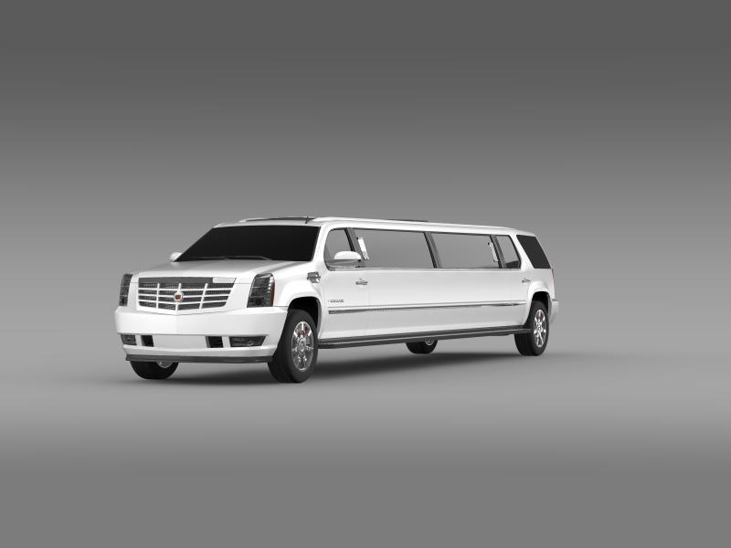 cadillac escalade limo 3d model 3ds max fbx c4d lwo ma mb hrc xsi obj 150191