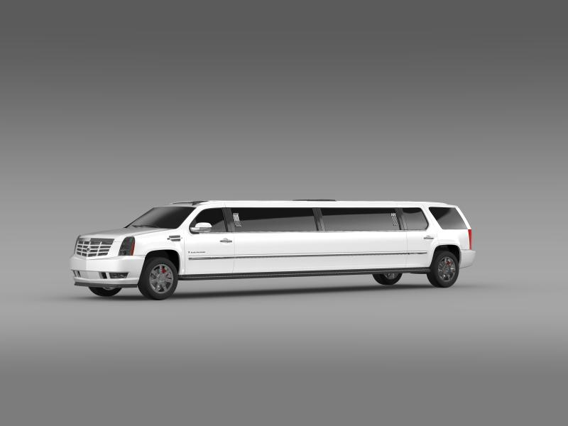 cadillac escalade limo 3d model 3ds max fbx c4d lwo ma mb hrc xsi obj 150192