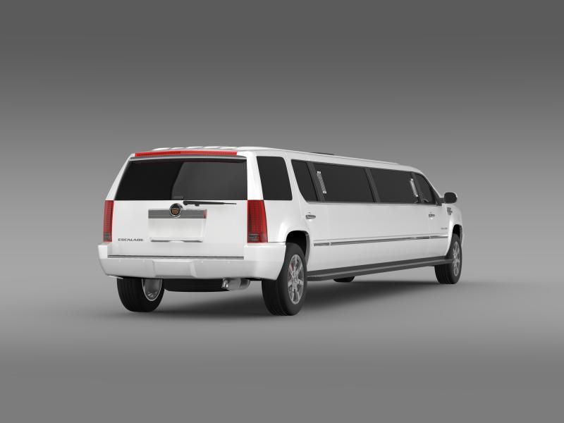 cadillac escalade limo 3d model 3ds max fbx c4d lwo ma mb hrc xsi obj 150196