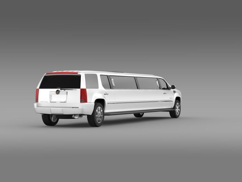 cadillac escalade limo 3d model 3ds max fbx c4d lwo ma mb hrc xsi obj 150197