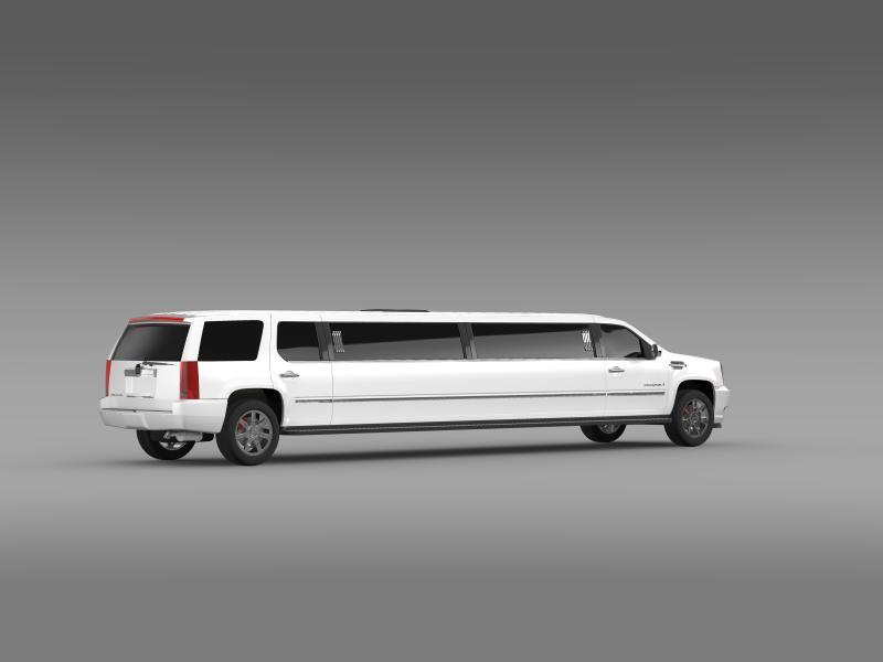 cadillac escalade limo 3d model 3ds max fbx c4d lwo ma mb hrc xsi obj 150198