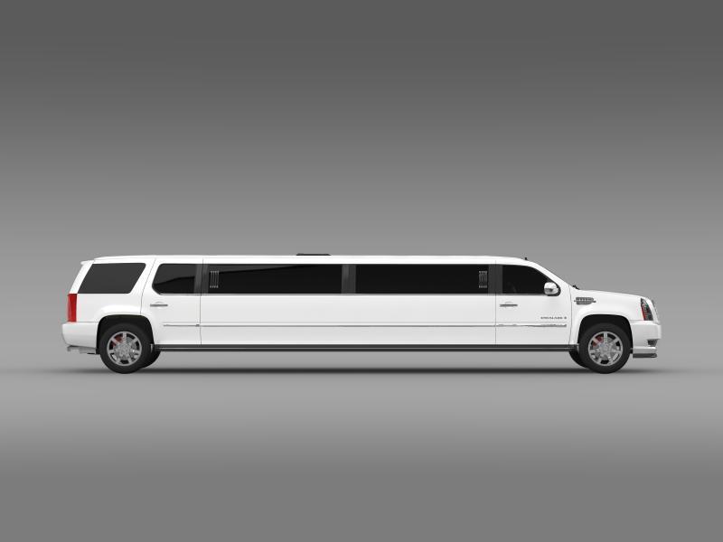 cadillac escalade limo 3d model 3ds max fbx c4d lwo ma mb hrc xsi obj 150199