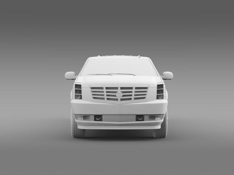 cadillac escalade limo 3d model 3ds max fbx c4d lwo ma mb hrc xsi obj 150202