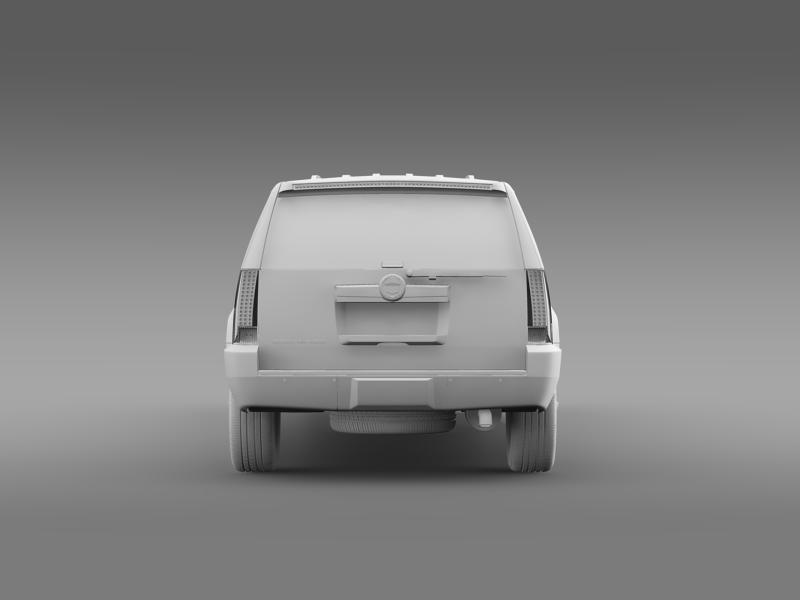 cadillac escalade limo 3d model 3ds max fbx c4d lwo ma mb hrc xsi obj 150203