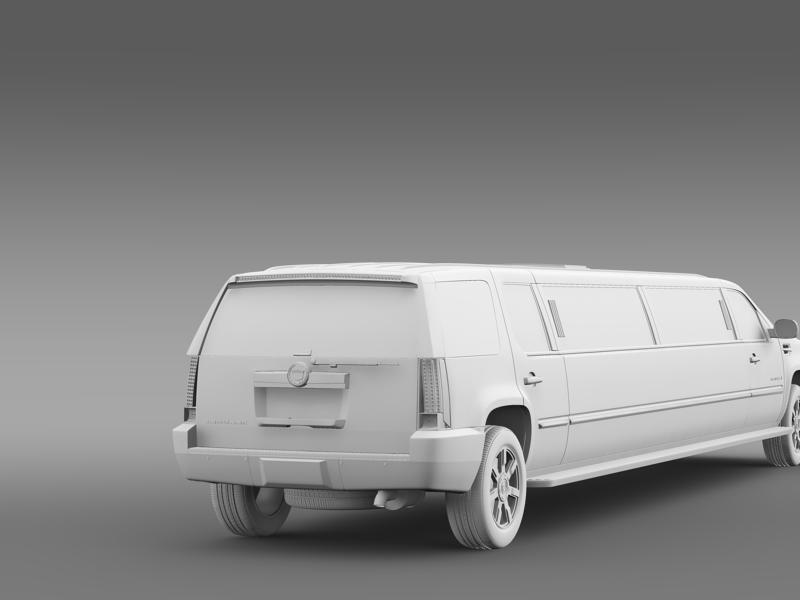 cadillac escalade limo 3d model 3ds max fbx c4d lwo ma mb hrc xsi obj 150205