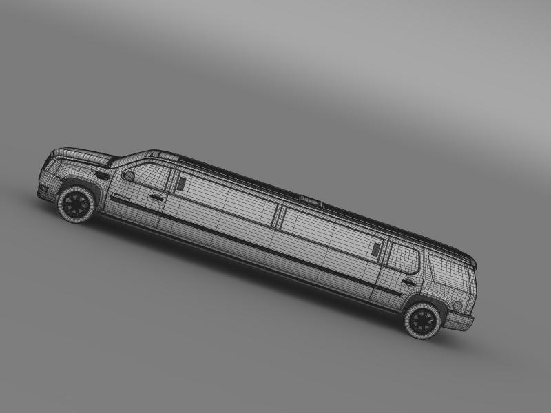 cadillac escalade limo 3d model 3ds max fbx c4d lwo ma mb hrc xsi obj 150207