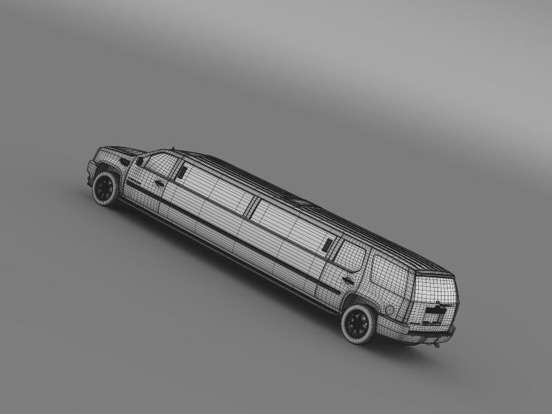cadillac escalade limo 3d model 3ds max fbx c4d lwo ma mb hrc xsi obj 150208