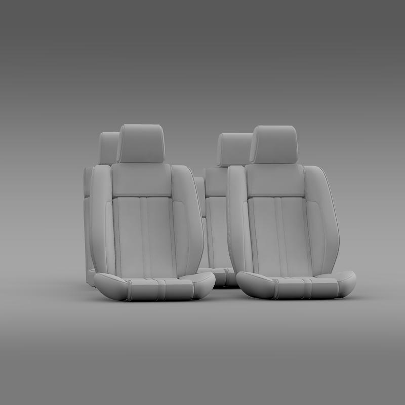 car seats of ford mustang 3d model 3ds max fbx c4d lwo ma mb hrc xsi obj 141397