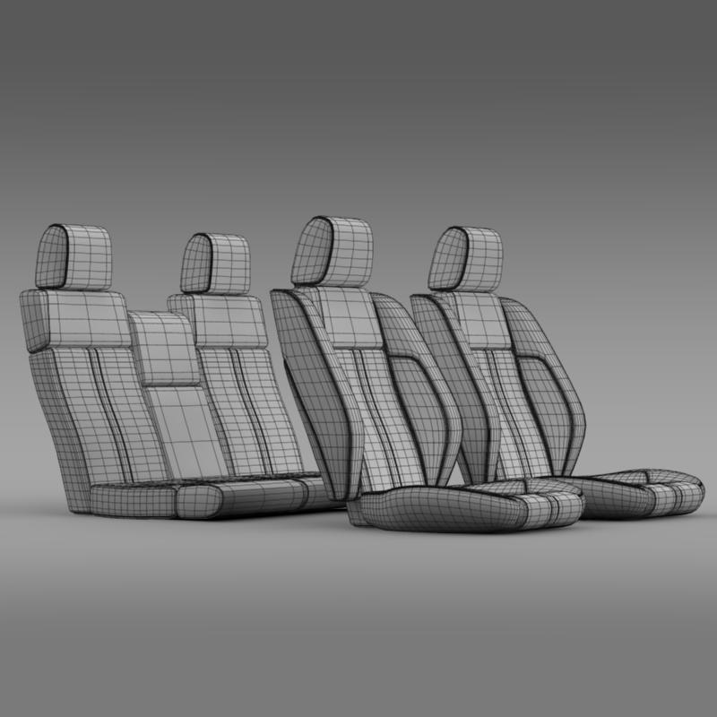 car seats of ford mustang 3d model 3ds max fbx c4d lwo ma mb hrc xsi obj 141399