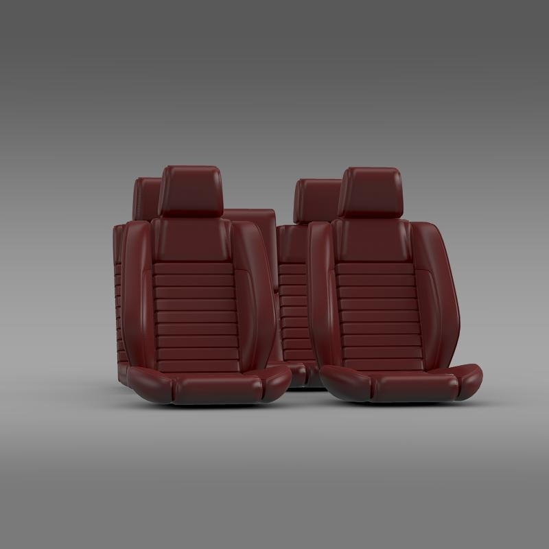 car seats of ford mustang shelby 3d model 3ds max fbx c4d lwo ma mb hrc xsi obj 141400