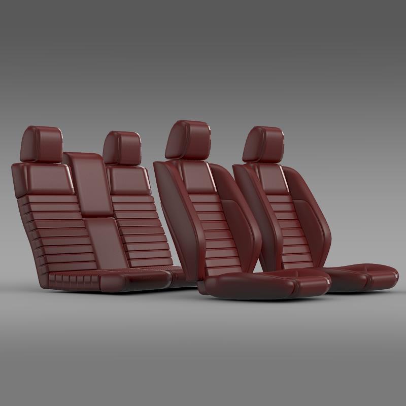 car seats of ford mustang shelby 3d model 3ds max fbx c4d lwo ma mb hrc xsi obj 141401