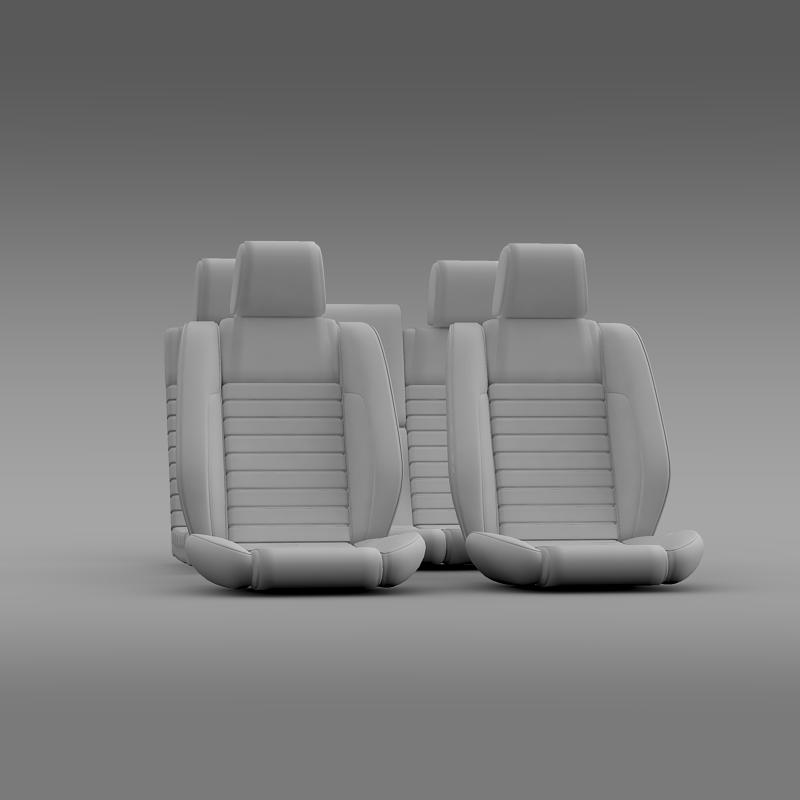 car seats of ford mustang shelby 3d model 3ds max fbx c4d lwo ma mb hrc xsi obj 141404