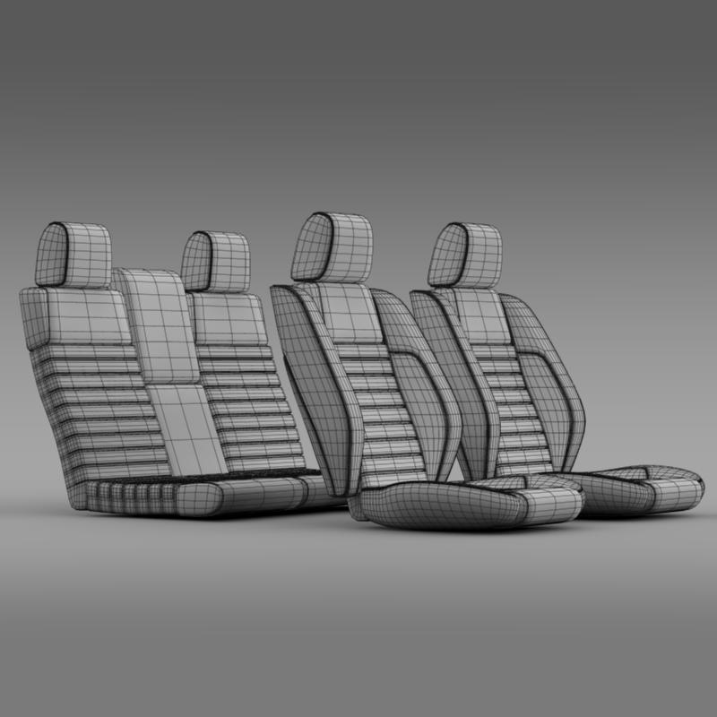 car seats of ford mustang shelby 3d model 3ds max fbx c4d lwo ma mb hrc xsi obj 141406