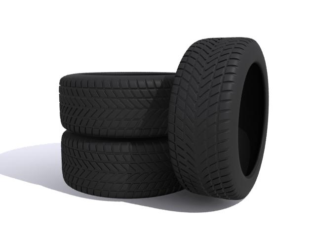 car tires 3d model max fbx 165338