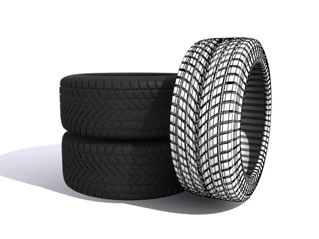 car tires 3d model max fbx 165339