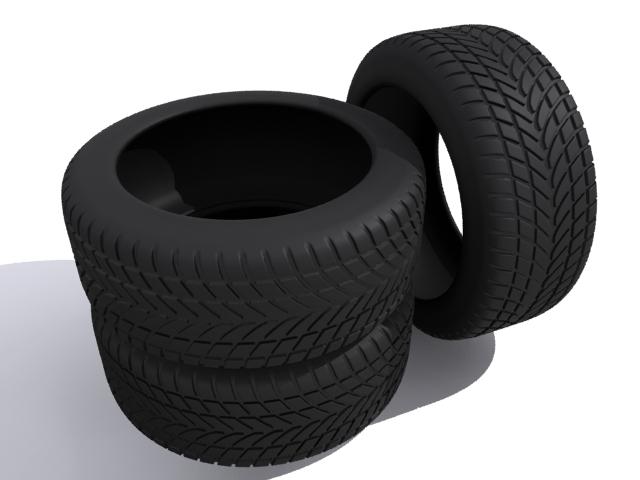 car tires 3d model max fbx 165340