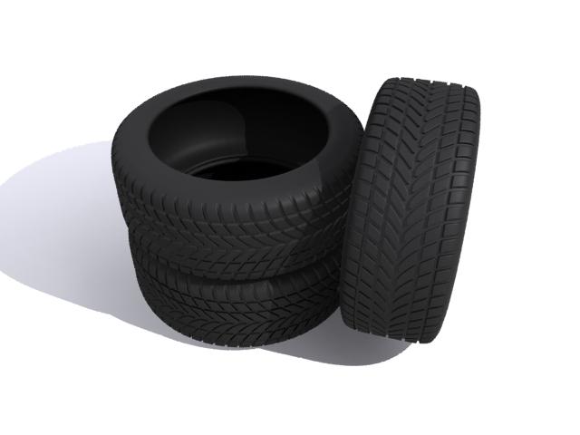 car tires 3d model max fbx 165341