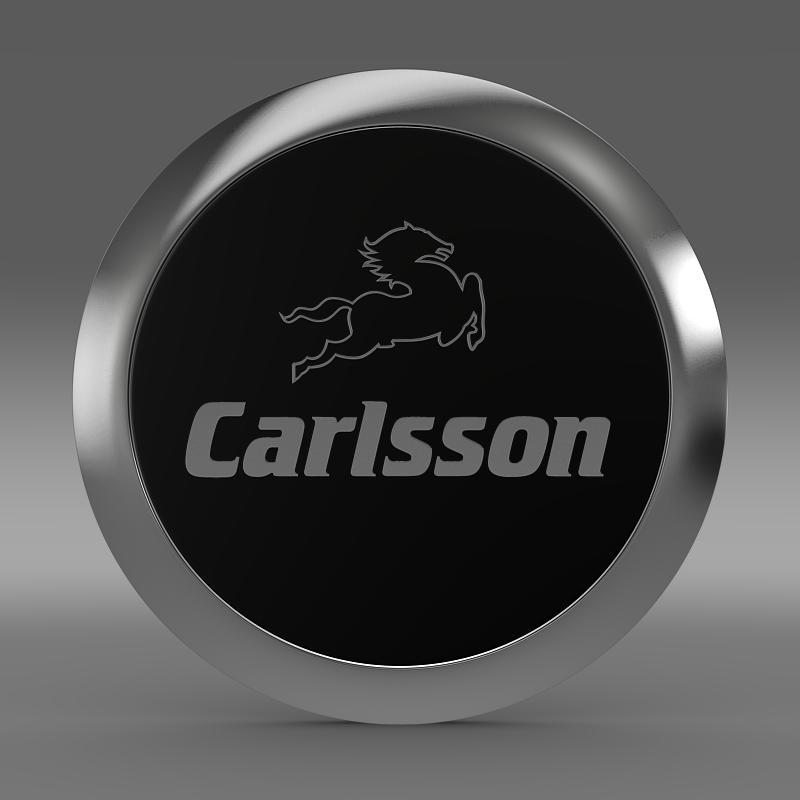 carlsson logo 3d model 3ds max fbx c4d lwo ma mb hrc xsi obj 155222