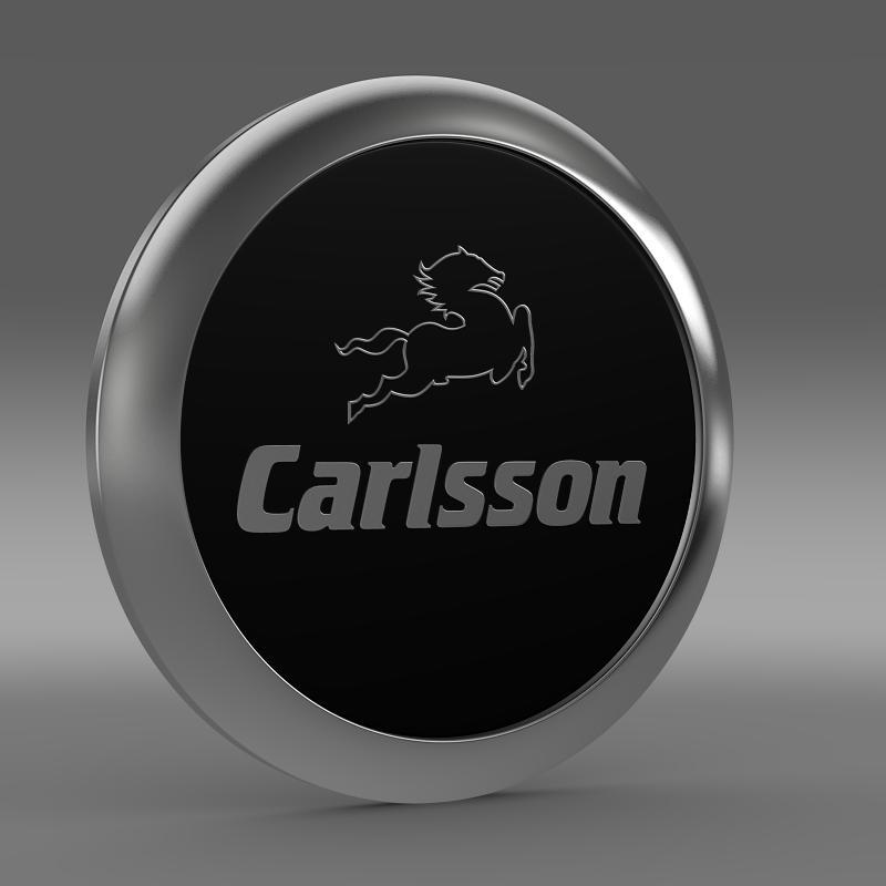carlsson logo 3d model 3ds max fbx c4d lwo ma mb hrc xsi obj 155223